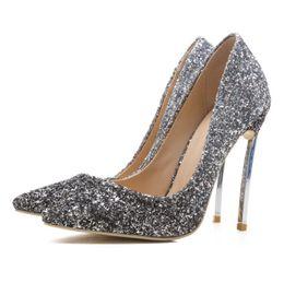 052c290497d5 Red Glitter Shoes Women Australia - Women Red Black Bling Glitter Gradually  Changing Color High Heels