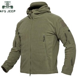 mens warm fleece jacket Canada - Fleece Jacket Men Outwear Softshell Warm Mens Multi Pocket Thick Thermal Polar Hooded Tactical Jackets Plus Size 4XL
