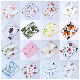 Wholesale for patchwork bedding resale online - Baby Muslin Blanket Infant Flamingo Rose Space Print Cotton Muslin Blankets Bedding Infant Swaddle Towel For Newborns Swaddle Blanket LT462