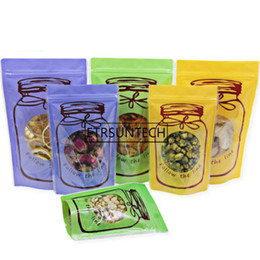 flower plastic bag wholesale UK - Stand Up Pouches Zipper Grip Seal Plastic Self Sealable Candy Dried Flower Lemon Packaging Zip Lock Bag with Window 1000pcs