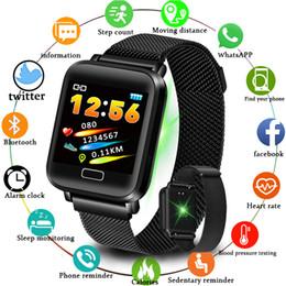 $enCountryForm.capitalKeyWord Australia - Smart Watch Men Blood Pressure Heart Rate Monitor Milanese Stainless Steel Smart Wristband Sport Fitness Tracker Smart Watch+box Y19052103