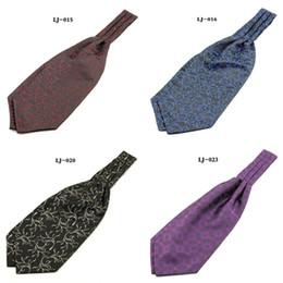 $enCountryForm.capitalKeyWord UK - Ikepeibao Hot Ascot Tie Cravat Men Neck Tie Jacquard Woven Floral Self Wedding British Style Polyester Neck Tie