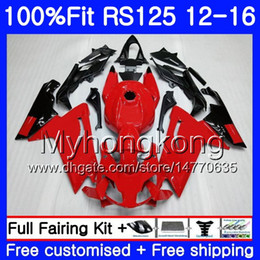 Rs 125 Abs Fairing Kit Canada - Injection For Aprilia RS-125 RS125RR RS4 RS125 12 13 14 15 16 315HM.0 RSV125 RS 125 2012 2013 2014 2015 2016 OEM Fairing kit Factory red blk
