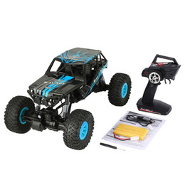 Electric Road Cars UK - wholesale 10428-D 1 10 RC Car Scale 2.4Ghz 4WD 18km h High Speed RC Crawler Climbing Off-Road Rock Electric RC Remote Control Car