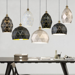 bedrooms paintings black white Australia - Modern Pendant Lights E27 Loft Light Fixtures Painted Iron Black White Champagne Pendant Lamp For Dining Room Hotel Decor