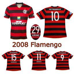 c03413794 2008 Flamengo classic soccer jersey 08 09 Flamengo home retro jersey  Adriano Kleberson Josiel vintage jersey old football shirt