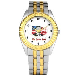 Unique Watches For Men Australia - Unique Pattern Dial Golden Case Watch for Men Comfortable Stainless Steel Band Wristwatch for Male Charming Quartz Analog Watches