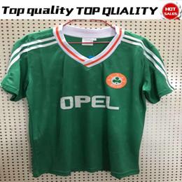 20c516e76 Retro Ireland Green Soccer Jerseys Ireland Football Team soccer Shirts Retro  Version Green Football Jersey Soccer Uniform On sale
