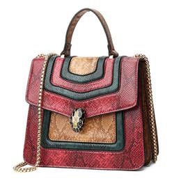 $enCountryForm.capitalKeyWord NZ - Fashion designer new brand women Bags Shoulder Bag Cross Body Flap handbags Clutch bag totes high quality Snake head mixed color