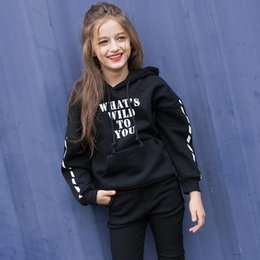 clothes for years old Australia - Girls Sweater Clothes Children's Winter Sweatshirts Kids Cotton Hoodies Thick Tops For 6 7 8 9 10 11 12 13 14 15 16 Years Old