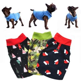 Wholesale french clothing sizes for sale – custom Big Sizes Warm Fleece Dog Clothes for Small Medium Dogs Winter Dog Coat Puppy Pet Clothes Chihuahua Jacket French Bulldog Clothing