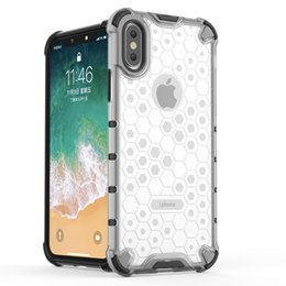 pc iphone 6s clear NZ - Hybrid TPU + PC Armor Case For iPhone XS Max XR XS X 7 8 6 6S Plus Honeycomb Clear Shockproof Case For iPhone 11 Pro Max 11 Pro