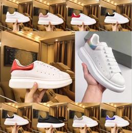 b39fc5fa0 Beat дизайнер обуви тренеры светоотражающие 3 м белая кожа платформы  кроссовки женские мужские плоские повседневная партия свадебные туфли замша  спортивные ...