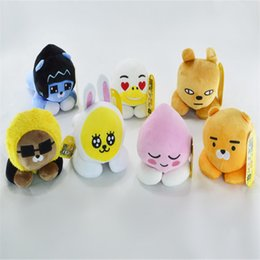 wholesale mobile phones korea 2019 - Korea Kakao friends Plush Pendant For Phone Accessories Stuffed Animals Doll Toys Cute Kawaii Mobile Doll Toys Plush Bac
