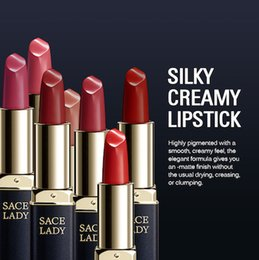 $enCountryForm.capitalKeyWord Australia - DHL Sexy Single Matte Lipstick Rouge Matte Soft Creamy Moisturizing Lipstick Long Lasting Waterproof Velvet Smooth No Fade Makeup