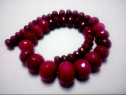 Gp Wedding Australia - necklaceJ0035 10-18mm Graduated faceted plum color jade beads strand necklace gp clasp 18""