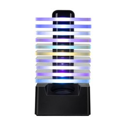 $enCountryForm.capitalKeyWord NZ - Dance LED Light Bluetooth Speaker Wireless Stereo Colorful Sound Box Subwoofers Handsfree for iPhone Samsung 2019 Newest Loudspeaker