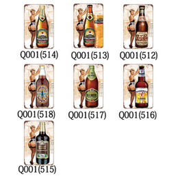 Fabric painting For wall decoration online shopping - Metal painting Beer Poster Metal Tin Signs Retro Wall Stickers For Bar Pub Cafe Decoration Art Plaque Vintage Home Decor EEA347