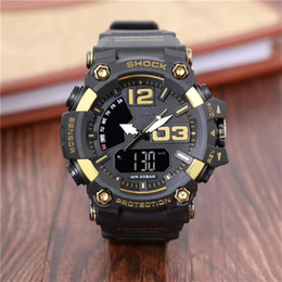 $enCountryForm.capitalKeyWord NZ - Men PRW Sports Electronic chronograph wristwatch ga 100 110 Men's g Watch Big Dial Digital waterproof LED male shock Wrist Watches g 1006