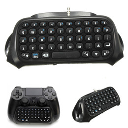 Sony Ps4 Wireless Controller Australia - Hot Sale 1Pc Wireless Bluetooth Chatpad Message Keyboard for Sony for PlayStation 4 for PS4 Controller Black High Quality