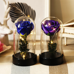 Glasses For Weddings Australia - LED Rose Flower Decoration Wire String Light for Glass Craft Bottle Valentines Wedding Party Decoration Birthday Gifts
