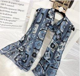 Wrap Toppings NZ - Newest Digital Print Silk Scarf Women 2019 black fashion Silk plaid Wraps Shawls and Scarf top s063