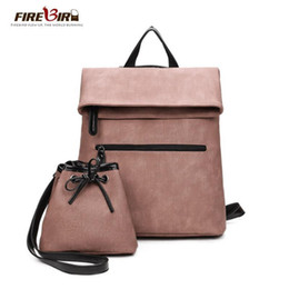 Coins Sets Australia - 2 PCS SET Women Backpack PU Leather Backpack Women Nice Popsale School Bags For Teenagers Famous Brand Black Femal New