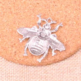 honey bee pendant Australia - 32pcs Charms hornet honey bee Antique Silver Plated Pendants Fit Jewelry Making Findings Accessories 40*38mm
