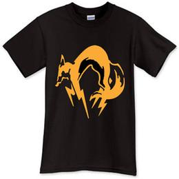 Neck Gear Australia - Summer Novelty Cartoon T Shirt Men'S Graphic Crew Neck Short-Sleeve Metal Gear Solid T Shirts