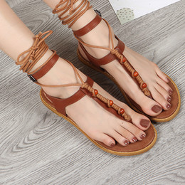 $enCountryForm.capitalKeyWord Australia - 2019 Stylish New Women sandals Cross Bandage Strap Buckle Flat-soled strap-on Casual Shoes Dropshipping zapatos de mujer