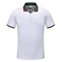 Ingrosso Cotton Luxury Mens Polo Shirts Cotton New Designer T-shirt da uomo Vintage Crew Neck Polos Camicie a maniche corte tshirt