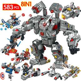 Super Blocks Australia - Marvel Avengers 4 Infinity War Endgame Building Blocks Super Hero LegoINGLY Iron Man Captain Marvel Buster Ultron Boys Toys