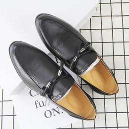 $enCountryForm.capitalKeyWord NZ - Attractive2019 Singles Men's Shoe Vietnam Trend Cloth Locke Youth Personality White Collar Leather Shoes