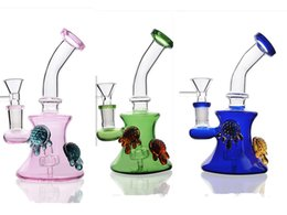 $enCountryForm.capitalKeyWord Canada - 7.1 Inchs Small Mini Dab Rigs Pink Thick Heady Glass Water Pipes Unique Bongs Bowl 14mm Hookahs Shihsa Smoke For Tobacco