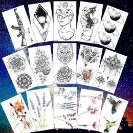 Black moon tattoo online shopping - Rejaski Creative Black Tattoo Sticker Women Body Art Planets Temporary Tattoo Men Moon Waterproof Tatoos Long Lasting Kids Tatoo