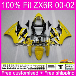 $enCountryForm.capitalKeyWord Australia - Injection For KAWASAKI NINJA ZX 600 CC 6 R ZX636 ZX6R 00 01 02 58HM.12 ZX 636 ZX-6R 00 ZX-636 ZX 6R 2000 2001 2002 OEM Fairing Yellow black