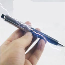 Shock Prank Pens Australia - spoof Fancy Funny toy Ball Point Pen Shocking Electric Shock Toy Gift Joke Prank Trick Fun Novelty Electric shock pen