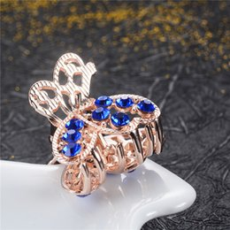 Small Hair Flower Clips Australia - Brands Elegant Women Hair Ornaments Flowers Hair Crystal Peacock Small Crab Clips Wedding Jewelry Gifts for Girls NEW