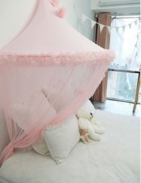 tent houses for kids UK - Kids Play Tents Indoor Princess Bed Canopy Mosquito Pink Baby Crib Curtains Play House for Children Gifts for Girls