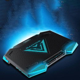 gaming stand 2019 - Laptop Cooler Pad With 5 Cooling fans 2 USB Port Back Light Stand Speed + - Adjustable for 15.6 17.3 18 19 inch Notebook