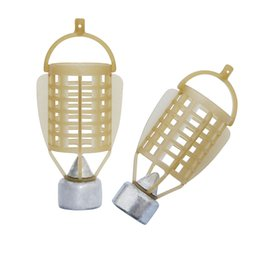 Bait Cages UK - Lures JSM 5 pcs lot 30g-80g carp Fishing Feeder tackle for fish food holder Cage with lead sinker for ice