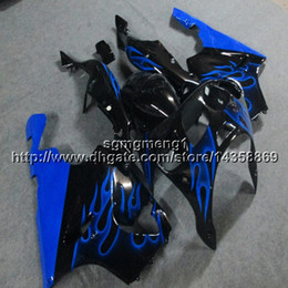 $enCountryForm.capitalKeyWord Australia - 23colors+Botls blue flames motorcycle cowl for Kawasaki ZX-7R 1996 1997 1998 1999 2000 2001 2002 2003 ABS Plastic Fairing