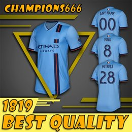 a6fd00e01 top quality 2019 New York City soccer jersey home 19 20 MLS LAMPARD 8 PIRLO  21 MCNAMARA MORALEZ DAVID VILLA 7 football shirts