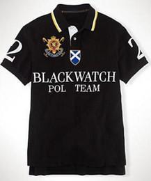 $enCountryForm.capitalKeyWord Australia - Summer Men Classic Polos Big Pony Embroidery Black Watch Print Cotton Polo Team Club Polo Shirts Tees Red Size S-XXL