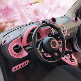 Gear Doors Australia - Pink Women Car Interior Styling Door Handle Cover Outlet Gear Panel Reading Light Moulding Trim for Smart fortwo forfour 2015 - 2018