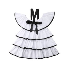 $enCountryForm.capitalKeyWord NZ - Summer Kid Baby Girl Clothes Layers Ruffle Dress Off Shoulder Party Tulle Tutu Fashion Cute Sundress