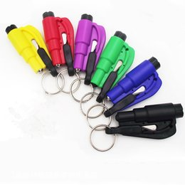 Auto Escape Hammer Australia - Mini 3 in 1 Seatbelt Cutter Emergency Hammer Glass Breaker Key Chain Smart AUTO rescue hand tool Safety Escape Lift Save with Whistle 500V37