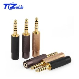 Pole Audio Jack Australia - 5pcs High Quality Audio Plug Jack 4.4mm Male To 2.5mm Female Gold Plating Plug 5 Poles Adapter AUX headphone Balance Connector