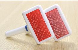 Eco-Friendly pet brush Plastic handle safe to dog cleaning grooming tool For dog and cat 8*3.5cm on Sale
