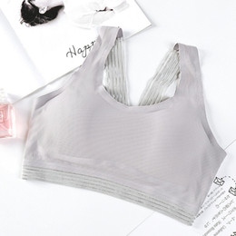 Wholesale Women Bras Beauty Back Lace Wrapped Chest Slim Underwear Mesh Stitching Sexy Tank Top